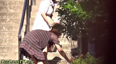 Japanese public, Japanese threesome, Japanese piss, Japanese peeing, Three, Nudity