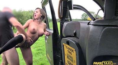 Outdoor, Fake taxi, Fake tits, Spanish milf