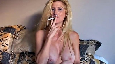 Smoking, Blonde cougar, Sexy grannies