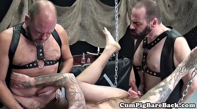 Anal mature, Leather, Swings, Swinging, Swing, Hairy mature anal