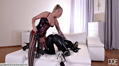 Latex, Mistress, Lesbian slave, Bdsm slave, Latex bdsm