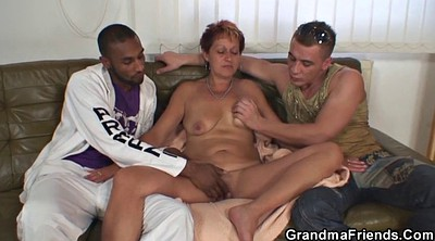 Double, Grandmother, Mature double, Interracial granny, Old grandmother, Matures