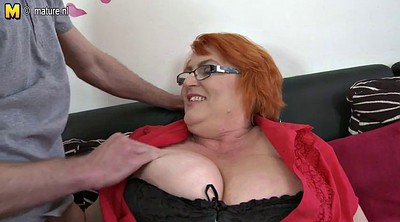 Mom fuck, Old and young, Big breast, Old fuck young