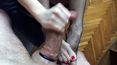 Stocking, Cum on foot, Foot slave, Stocking foot