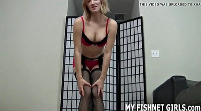 Pantyhose pussy, Fishnet, Pussy play