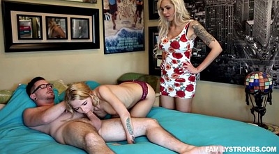 Family, Creampie small, Mom teach, Family mom
