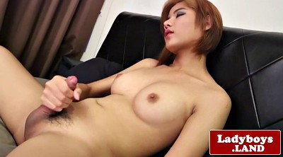 Shemale cumshot, Shemale asian