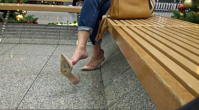 Shoes, Amateur mom, Mom hidden, Hidden mom, Mom foot