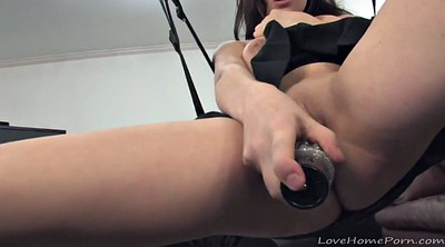 Big dildo, Amateur homemade, Swinging, Swing