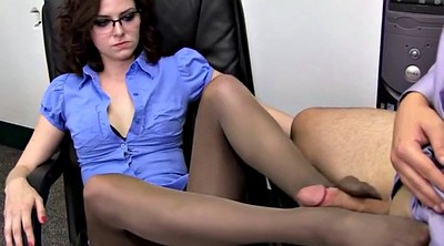 Foot job, Pantyhose feet
