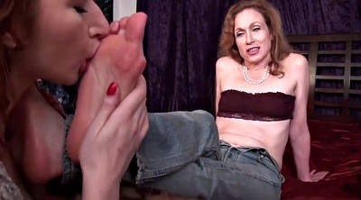 Foot worship, Lesbian foot, Aunt, Sole, Mature foot