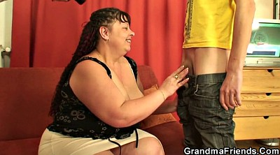 Granny threesome, Young mommy