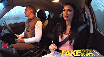 School, Pov creampie, Exam, Faked, Fake driving school, British threesome