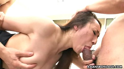 Spit, Two creampie, Missionary creampie, Japanese threesome