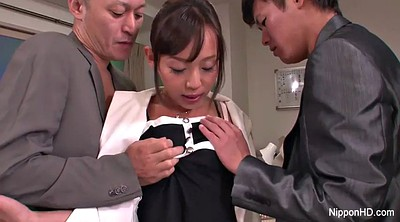 Japanese office, Japanese young, Two cock, Asian office, Japanese threesome, Japanese sexy