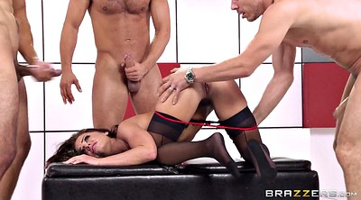 Groups, Three, Hung, Doggy style sex, Adriana chechik
