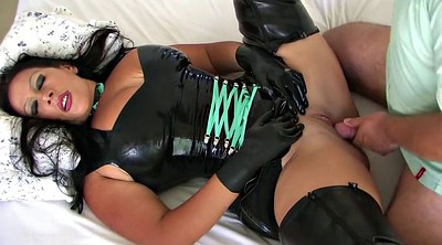 Black, Latex, Boot