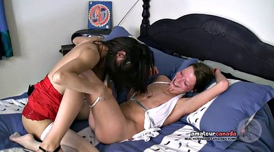 Asian lesbian, Small asian, Licking hairy pussy