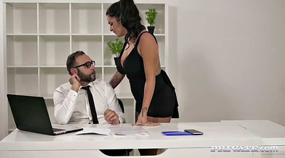 Secretary, Spanish, European anal, Big tits office