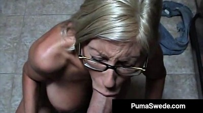 Mature glasses, Glasses, Blow job