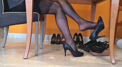 Pantyhose, Nylon foot, Black pantyhose, Nylon fetish, Black nylon, Nylon heels
