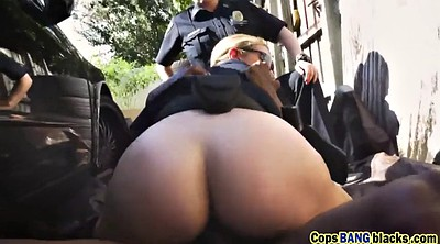Cops, Ebony threesome, Joslyn
