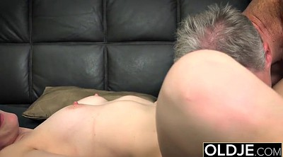 Old man, Cum on pussy