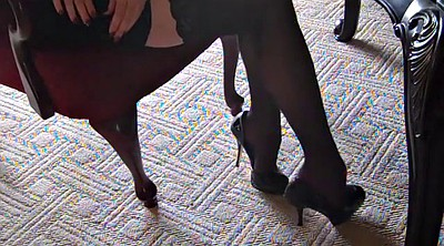 Foot, Stockings, High heels, Silk, Silk stockings, Stocking foot