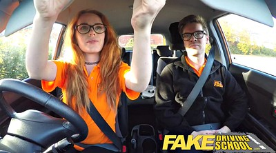 School, Surprised, Creampie surprise, Redhead solo, Fake driving school, British teen