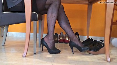 Black nylon, Pantyhose foot, Black pantyhose