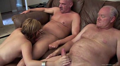 Shaving, Old men, Granny handjob, Throated, Two old, Two granny