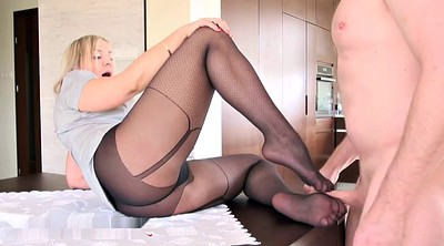 Footjob, Pantyhose feet, Pantyhose footjob, Sexy feet