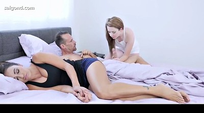 Creampie, Sleeping, Sleep, Dad, Step mom, Sleeping mom