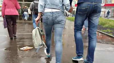 Russian, Jeans, Big ass cam, Ass cam