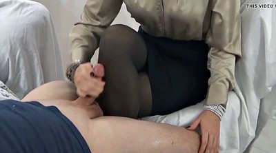 Stocking, Nylon feet, Cum on feet, Pantyhose feet, Nylon cum, Handjob stocking