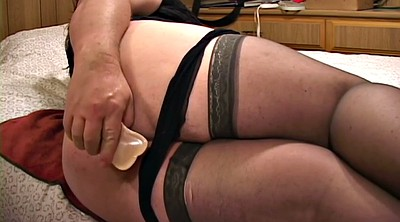 Nylon, Chubby solo, Anal solo, Nylon stocking, Anal dildo, Stockings solo