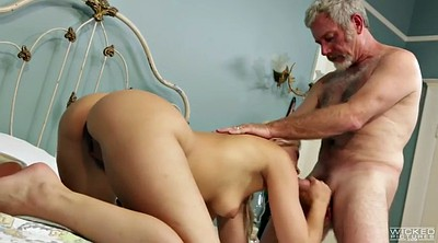 Old man, Hairy young, Hairy blonde, Anikka albrite