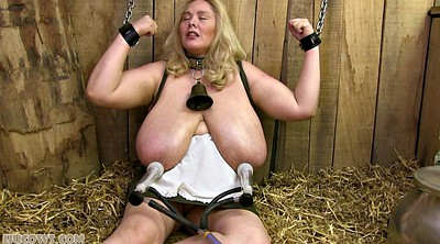 Tied, Mature bondage, Sex machine, Machine bondage, Big milk