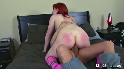 Spanking, Ginger, Redhead anal, Hairy big ass, Hairy ass, Cunt spank