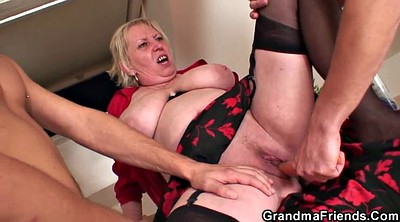 Wife threesome, Mature double penetration, Young threesome, Nasty granny