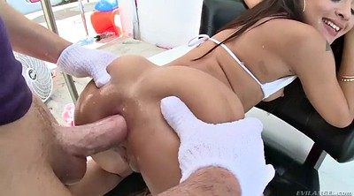 Holly, Leak, Big ass oil anal
