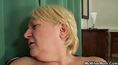 Mom, Busty mom, Old husband, Old mom, Granny big tits