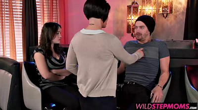 Shay fox, Romantic, Young couple, Granny threesome, Dinner
