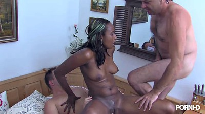 Smoking, Two, Black creampie, Two blowjob, Between