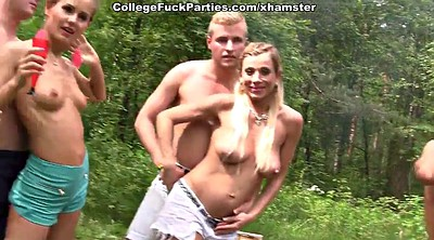 Party, Russian student, Students, Double anal