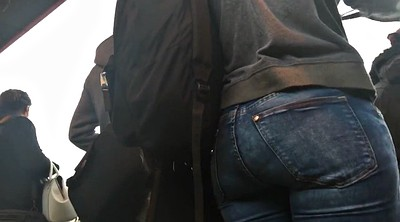 Big black ass, Nice ass, In bus, Tight jeans, Tight ass, The bus