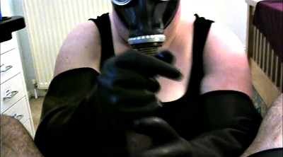 Gloves, Mask, Latex handjob
