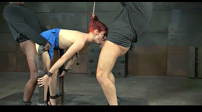 Tied orgasm, Red haired
