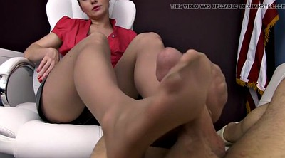 Footjob, Nylon feet, Pantyhose feet, Nylon footjob