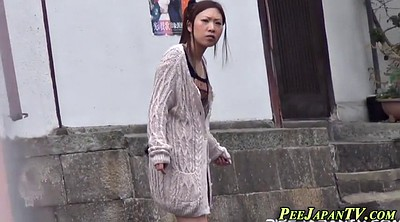 Hairy, Public piss, Japanese pee
